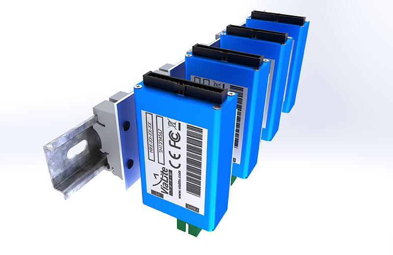 Keeping Vertical: DIN Rail Kit for <em><strong>ViaLite</em></strong> Blue OEM Modules