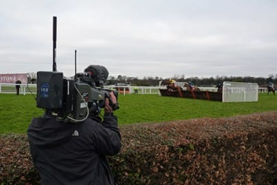 Link wireless camera being used to film horse racing