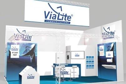 ViaLite's IBC 2014 stand visual