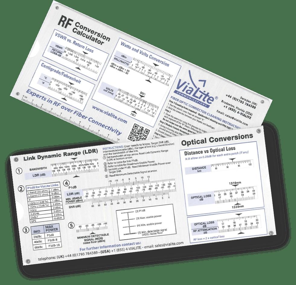 New RF & Optical Conversion Slide Charts