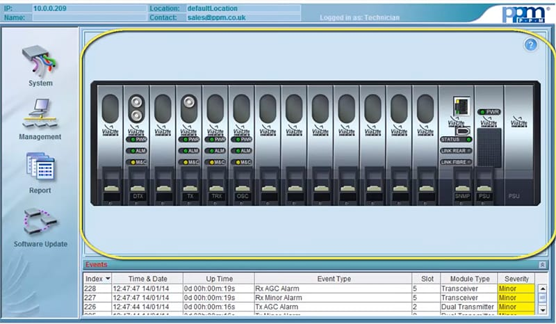 ViaLiteHD Legacy SNMP GUI Demo