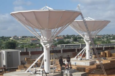 The ViaSat Luanda site, Angola during construction