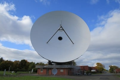 32 meter antenna system at the BT International Communications Centre, Madley, UK - the largest in the country!