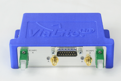 New RF over Fiber Blue2 Link (bottom view showing connectors)