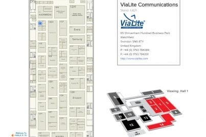 Find ViaLite at IBC on Stand 1.A21 map