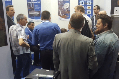 A big meeting taking place on ViaLite's stand at IBC 2016
