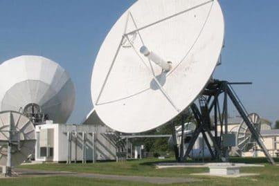 Satellite dishes at Mount Jackson Teleport, USA