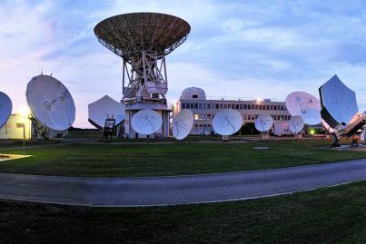 Eutelsat's Rambouillet Teleport near Paris (panoramic)