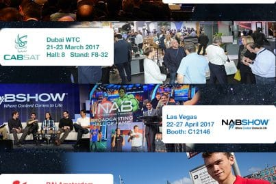 ViaLite will be at the following exhibitions in 2017: SATELLITE, CABSAT, NAB and IBC