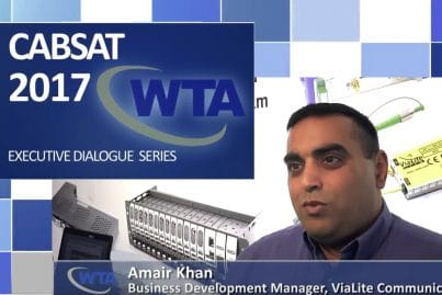 Amair Khan, ViaLite Business Development Manager, interviewed by WTA at CABSAT 2017