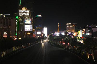 The world-famous Las Vegas strip