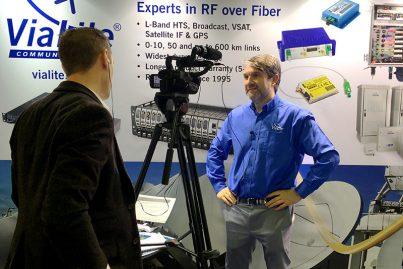 Richard Jacklin being interviewed at CABSAT 2018