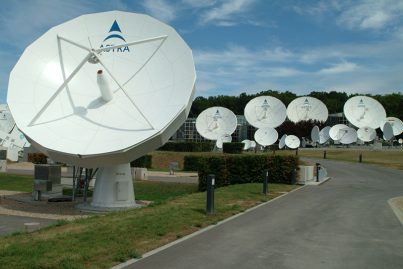 SES satellite dishes. Credit: SES