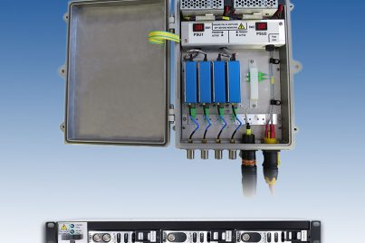 ViaLite VSAT package - ODE-A4 VSAT enclosure and 1U Rack Chassis