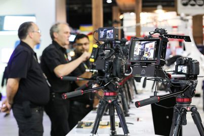 Broadcast camera equipment on display at CABSAT