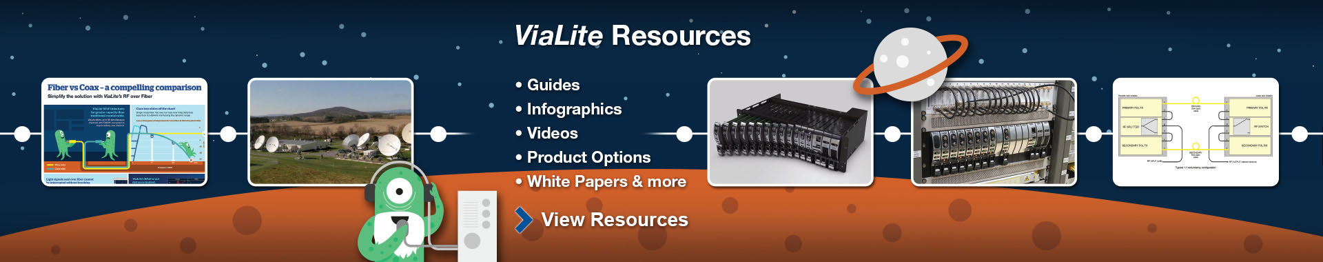 ViaLite Resources section slider