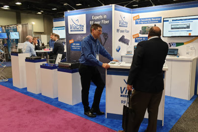 ViaLite booth at the SATELLITE Show 2020