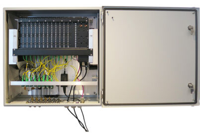 Populated ODE-B3U Outdoor Enclosure - Front View