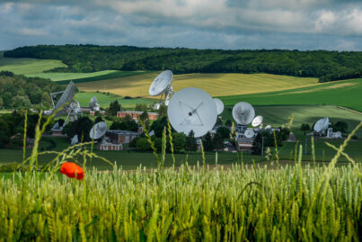 Orange Teleport in Bercenay-en-Othe, France © Orange