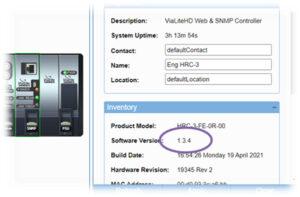 HRC-3 web GUI software version