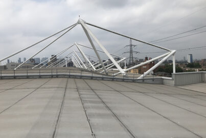 ExCeL London Rooftop antenna location