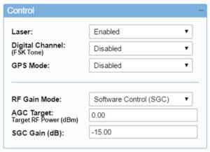 Set SGC gain levels (Tx)
